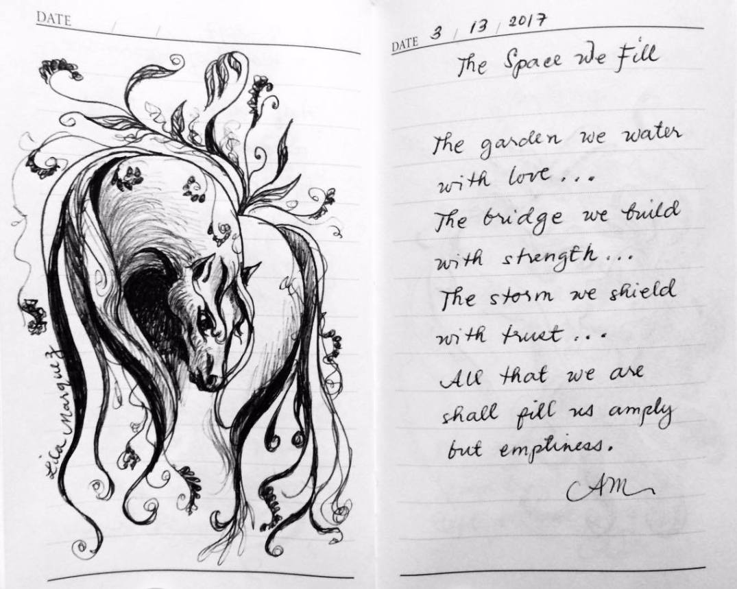 Lines of Lila-Sketches and Scribbles-The space we fill