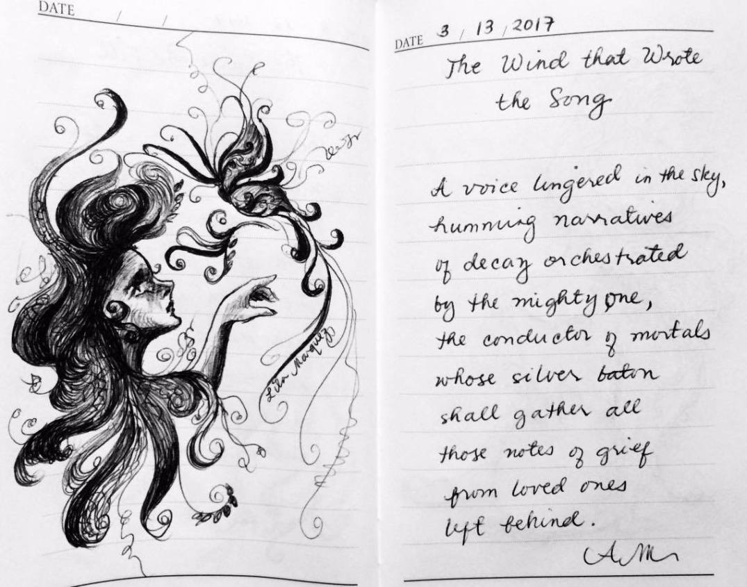 Lines of Lila-Sketches and Scribbles-The wind that wrote the song